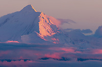 Sunset on mount Hayes, Alaska Range, Interior Alaska.
