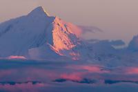 Sunset on mount Hayes, Alaska Range, Interior Alaska.