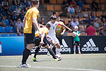 HKFC U-23 (in white) vs Singapore Cricket Club (in yello), during their Main Tournament match, part of the HKFC Citi Soccer Sevens 2017 on 27 May 2017 at the Hong Kong Football Club, Hong Kong, China. Photo by Chris Wong / Power Sport Images