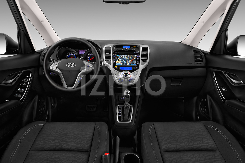 Stock photo of straight dashboard view of 2016 Hyundai ix20 Joy 5 Door Mini MPV Dashboard