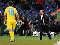 Rafael Benitez Stadio Olimpico  di Romai , 2 Dicembre 2013<br /> Foto Ciro De Luca
