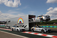 16th July 2020, Hungaroring, Budapest, Hungary; F1 Grand Prix of Hungary, drivers arrival and track inspection day;  F1 Safety Car, Mercedes-AMG GT R and F1 Medical Car Budapest Hungary