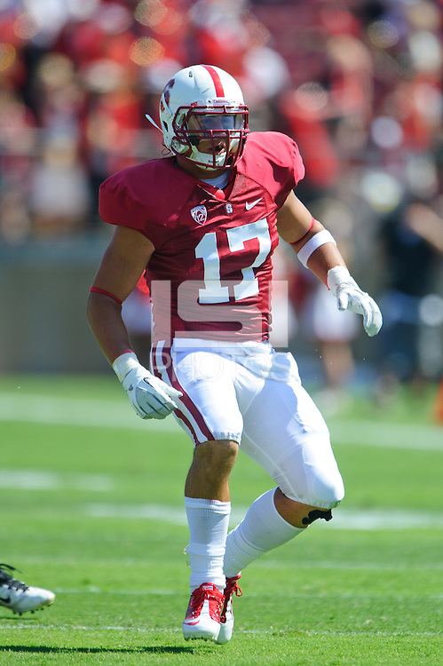 STANFORD, CA - September 3, 2011:  Stanford's AJ Tarpley during Stanford's season opener against San Jose State.   The Cardinal defeated the Spartans, 57-3.