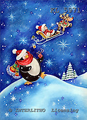 Interlitho, CHRISTMAS ANIMALS, paintings,+penguin,++++,penguine,sleight,KL5971,#XA# Weihnachten, Navidad, illustrations, pinturas