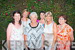 Ballyheigue native Joan Doonan (3rd left) who is home on holidays from Australia had a lovely treat when her five nieces from Ardfert and Ballyheigue brought her to Cassidy's restaurant, Tralee on Saturday evening l-r: Nuala Hanley, Ann O'Donnell, Joan Doonan, Grace Egan, Geraldine Slattery and Aine Fitzgerald.