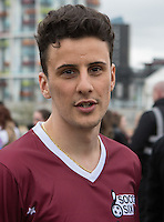 JOSEPH VALENTE (THE APPRENTICE 2015 – WINNER) during the SOCCER SIX Celebrity Football Event at the Queen Elizabeth Olympic Park, London, England on 26 March 2016. Photo by Kevin Prescod.