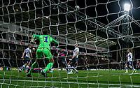 Leeds United's Eddie Nketiah scores his side's first goal  <br /> <br /> Photographer Alex Dodd/CameraSport<br /> <br /> The EFL Sky Bet Championship - Preston North End v Leeds United - Tuesday 22nd October 2019 - Deepdale Stadium - Preston<br /> <br /> World Copyright © 2019 CameraSport. All rights reserved. 43 Linden Ave. Countesthorpe. Leicester. England. LE8 5PG - Tel: +44 (0) 116 277 4147 - admin@camerasport.com - www.camerasport.com