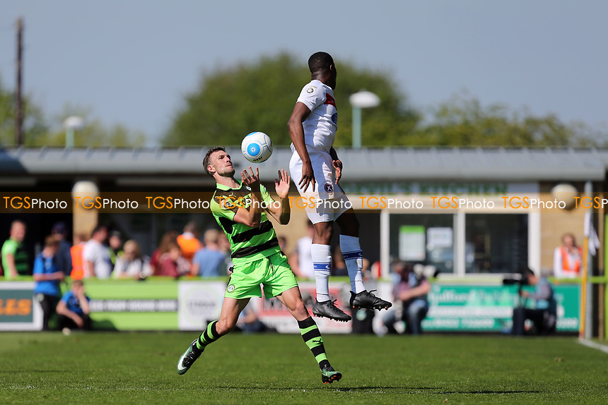 Fejiri Okenabirhie of Dagenham and Redbridge and Christian Doidge of Forest Green Rovers during Forest Green Rovers vs Dagenham & Redbridge, Vanarama National League Play-Off Football at The New Lawn on 7th May 2017