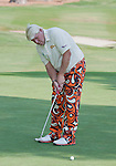 August 3, 2012: John Daly putts on the 15th green during the second round of the 2012 Reno-Tahoe Open Golf Tournament at Montreux Golf & Country Club in Reno, Nevada.