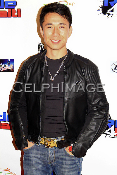 "JAMES KYSON-LEE. Celebrities participate in ""Ride 4 Haiti: Los Angeles,"" a motorcycle ride to benefit Hollywood Unites for Haiti, founded by Haitian-born actor, Jimmy Jean-Louis. Los Angeles, CA, USA.  February 27, 2010."