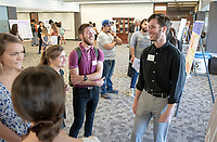 "Ben Smith presents, ""Housing as a Human Right: Building Community Power Through Tenant Organizing""<br /> Mentor: Peter Dreier, UEP<br /> Occidental College's Undergraduate Research Center hosts their annual Summer Undergraduate Research Conference on July 31, 2019. Student researchers presented their work as either oral or poster presentations at this final conference. The program lasts 10 weeks and involves independent research in all departments.<br /> (Photo by Marc Campos, Occidental College Photographer)"