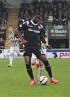 Yann Songo'o in the St Mirren v Ross County Scottish Professional Football League Premiership match played at St Mirren Park, Paisley on 3.5.14.