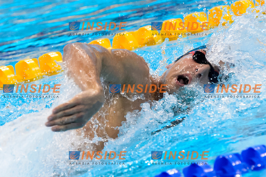 Gabriele DETTI ITA Gold Medal <br /> 400M Freestyle Men Final <br /> London, Queen Elizabeth II Olympic Park Pool <br /> LEN 2016 European Aquatics Elite Championships <br /> Diving  <br /> Day 08 16-05-2016<br /> Photo Andrea Staccioli/Deepbluemedia/Insidefoto