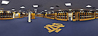 Panoramic view of the Football locker room in Notre Dame Stadium...Photo by Matt Cashore/University of Notre Dame