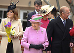 """QUEEN AND MEMBERS OF THE ROYAL FAMILY.attend Easter Service at St George's Chapel, Windsor_April8, 2012.Mandatory credit photo: ©NEWSPIX INTERNATIONAL..(Failure to credit will incur a surcharge of 100% of reproduction fees)..                **ALL FEES PAYABLE TO: """"NEWSPIX INTERNATIONAL""""**..IMMEDIATE CONFIRMATION OF USAGE REQUIRED:.Newspix International, 31 Chinnery Hill, Bishop's Stortford, ENGLAND CM23 3PS.Tel:+441279 324672  ; Fax: +441279656877.Mobile:  07775681153.e-mail: info@newspixinternational.co.uk"""