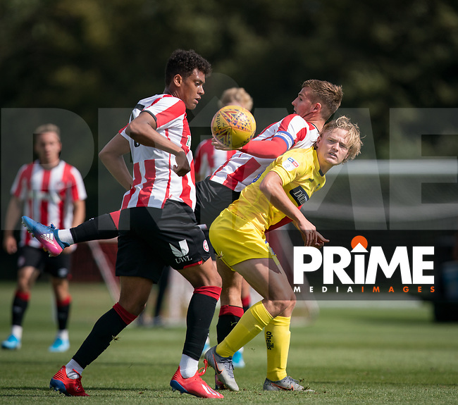 Alex Samuel of Wycombe Wanderers during the behind closed doors friendly between Brentford B and Wycombe Wanderers at Brentford Football Club Training Ground & Academy, 100 Jersey Road, TW5 0TP, United Kingdom on 3 September 2019. Photo by Andy Rowland.