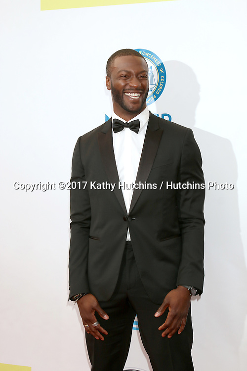 LOS ANGELES - FEB 11:  Aldis Hodge at the 48th NAACP Image Awards Arrivals at Pasadena Conference Center on February 11, 2017 in Pasadena, CA