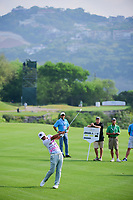 Hideto Tanihara (JAP) hits his approach shot on 2 during round 6 of the World Golf Championships, Dell Technologies Match Play, Austin Country Club, Austin, Texas, USA. 3/26/2017.<br /> Picture: Golffile | Ken Murray<br /> <br /> <br /> All photo usage must carry mandatory copyright credit (&copy; Golffile | Ken Murray)