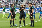 10.09.2017, Olympiastadion, Berlin, GER, 1.FBL, Hertha BSC vs SV Werder Bremen<br /> <br /> im Bild<br /> Thomas Stein (Schiedsrichter-Asstent / SR-A. 2), Bibiana Steinhaus (Schiedsrichterin / referee), Christof G&uuml;nsch (Schiedsrichter-Asstent / SR-A. 1),  <br /> <br /> Foto &copy; nordphoto / Ewert