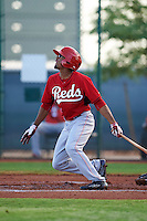 Cincinnati Reds Satchel McElroy (12) during an instructional league game against the Cleveland Indians on October 17, 2015 at the Goodyear Ballpark Complex in Goodyear, Arizona.  (Mike Janes/Four Seam Images)