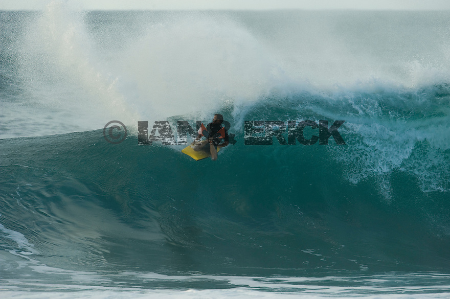 at Backdoor on the Northshore of Oahu in Hawaii.