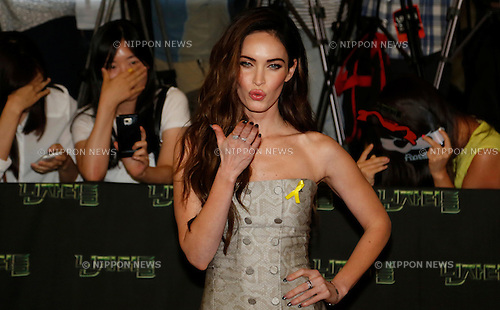 Megan Fox, Aug 26, 2014 : Actress Megan Fox attends a red carpet event for her movie, 'Teenage Mutant Ninja Turtles' in Seoul, South Korea.  (Photo by Lee Jae-Won/AFLO) (SOUTH KOREA)