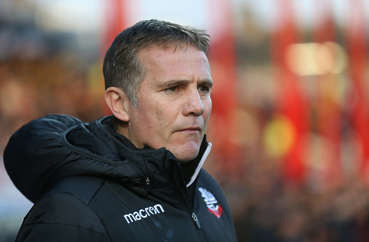Bolton Wanderers manager Phil Parkinson <br /> <br /> Photographer Rob Newell/CameraSport<br /> <br /> The EFL Sky Bet Championship - Brentford v Bolton Wanderers - Saturday 22nd December 2018 - Griffin Park - Brentford<br /> <br /> World Copyright © 2018 CameraSport. All rights reserved. 43 Linden Ave. Countesthorpe. Leicester. England. LE8 5PG - Tel: +44 (0) 116 277 4147 - admin@camerasport.com - www.camerasport.com