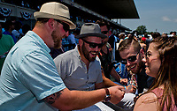 ELMONT, NY - JUNE 10: Spectators look at their betting slips after a race on Belmont Stakes Day at Belmont Park on June 10, 2017 in Elmont, New York (Photo by Scott Serio/Eclipse Sportswire/Getty Images)