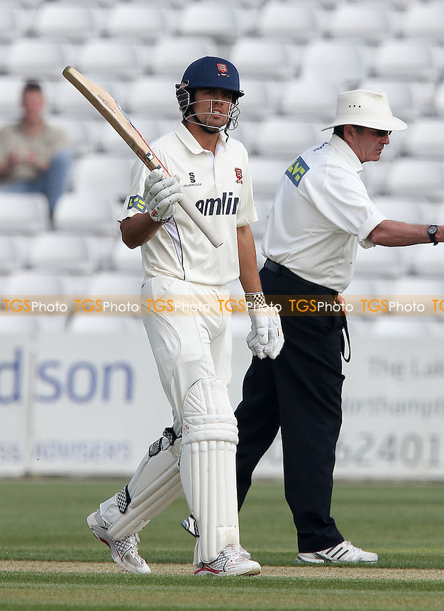Alastair Cook of Essex acknowledges scoring a half century for his team - Northamptonshire CCC vs Essex CCC - LV County Championship Division Two Cricket at the County Ground, Northampton - 20/04/11 - MANDATORY CREDIT: Gavin Ellis/TGSPHOTO - Self billing applies where appropriate - Tel: 0845 094 6026