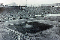 Ballparks: Boston Fenway Park (historical photo) in the 1912 World Series, the year of the Park's opening.