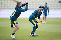 Alex Cary looks on as Matthew Wade takes during a Training Session at Edgbaston Stadium on 10th July 2019