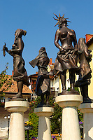 Statue of the four seasons - Tapolca, Balaton, Hungary
