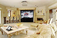 Living Room Projection Screen With AMX Control