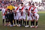 Madrid (03/03/2012).-Campo de Futbol de Vallecas..Liga BBVA..Rayo Vallecano-Real Racing Club..Alineacion del Rayo Vallecano...©Alex Cid-Fuentes.......