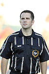24 August 2013: Assistant Referee Jason Cullum. The Carolina RailHawks played the Minnesota United FC Loons at WakeMed Stadium in Cary, NC in a 2013 North American Soccer League Fall Season game. Carolina won 1-0.