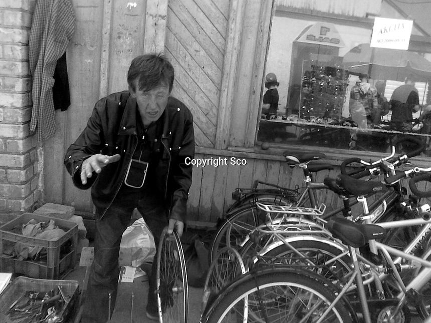 Drunk bicycle repair man