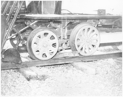 Detail of front truck of an RGS Goose.<br /> RGS