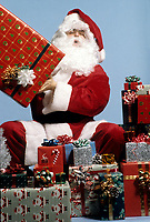 FILE PHOTO -  Santa Claus and gifts<br /> <br /> Photo  : Harold Beaulieu- Agence Quebec Presse