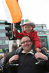Tony and Luke Dalton at the 2010 St Patrick's Day Parade...Photo NEWSFILE/Jenny Matthews.(Photo credit should read Jenny Matthews/NEWSFILE)....This Picture has been sent you under the condtions enclosed by:.Newsfile Ltd..The Studio,.Millmount Abbey,.Drogheda,.Co Meath..Ireland..Tel: +353(0)41-9871240.Fax: +353(0)41-9871260.GSM: +353(0)86-2500958.email: pictures@newsfile.ie.www.newsfile.ie.FTP: 193.120.102.198.