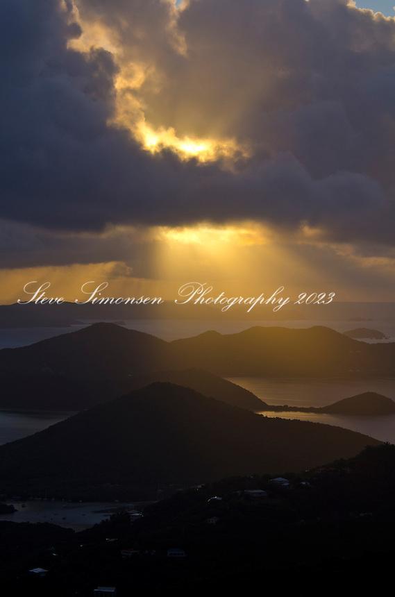 Sunrise from Bordeaux Mountain<br /> St. John<br /> U.S. Virgin Islands