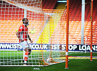 Blackpool's Kyle Vassell celebrates his sides second goal, an own goal by Exeter City's Troy Brown (not in picture)<br /> <br /> Photographer Kevin Barnes/CameraSport<br /> <br /> Football - The EFL Sky Bet League Two - Blackpool v Exeter City - Saturday 6th August 2016 - Bloomfield Road - Blackpool<br /> <br /> World Copyright &copy; 2016 CameraSport. All rights reserved. 43 Linden Ave. Countesthorpe. Leicester. England. LE8 5PG - Tel: +44 (0) 116 277 4147 - admin@camerasport.com - www.camerasport.com