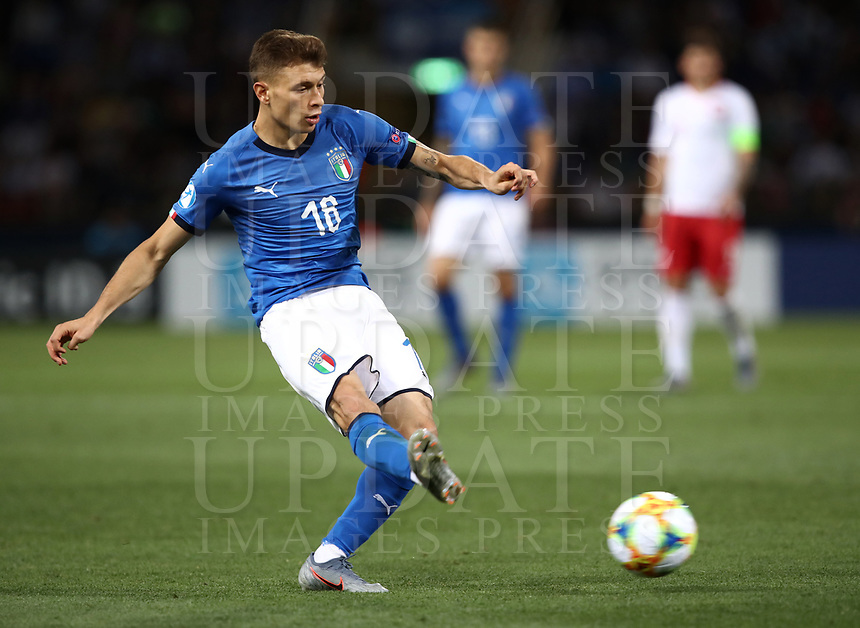 Football: Uefa under 21 Championship 2019, Italy -Poland, Renato Dall'Ara stadium Bologna Italy on June19, 2019.<br /> Italy's Nicoò Barella in action during the Uefa under 21 Championship 2019 football match between Italy and Poland at Renato Dall'Ara stadium in Bologna, Italy on June19, 2019.<br /> UPDATE IMAGES PRESS/Isabella Bonotto