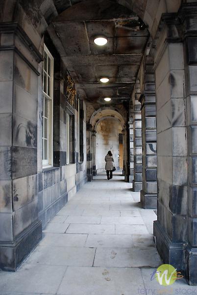 Government building walkway.