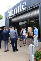 NWA Democrat-Gazette/FLIP PUTTHOFF <br /> Guests gather Wednesday Aug. 7 2019 for the opening of Ignite professional studies program in Bentonville, where high school students hone their skills in a number of career fields.