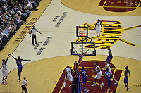 A contested jump shot