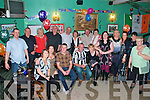 50th Birthday: Celebrting his 5oth birthday with family and friends,  Arthur Cree (Listowel) centre front,  at The Kingdom Bar on Saturday night last.