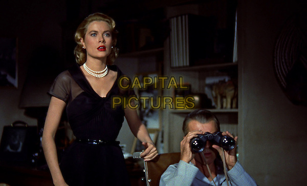 Grace Kelly, James Stewart<br /> in Rear Window (1954) <br /> *Filmstill - Editorial Use Only*<br /> CAP/NFS<br /> Image supplied by Capital Pictures