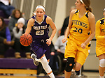 SIOUX FALLS, SD - DECEMBER 31: Jacey Huinker #23 from the University of Sioux Falls pushes the ball out on a break against Augustana University during their game Sunday afternoon December 31, 2017 at the Stewart Center in Sioux Falls. (Photo by Dave Eggen/Inertia)