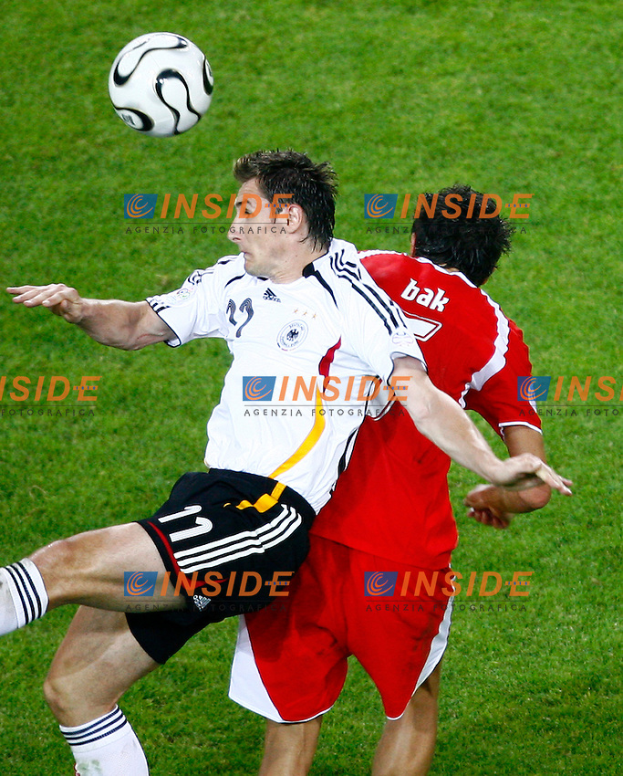 Dortmund 14/6/2006 World Cup 2006.Germany Poland - Germania Polonia 1-0.Photo Andrea Staccioli Insidefoto.Miroslav Klose Germany Jacek Bak Poland