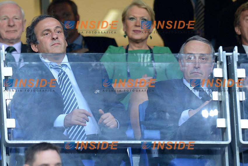 "Michel PLATINI, Giancarlo ABETE (Italia).Poznan 18/06/2012  """"Stadion Miejski"".Football calcio Europeo 2012 Italia Vs Irlanda.Football Calcio Euro 2012.Foto Insidefoto Alessandro Sabattini..."